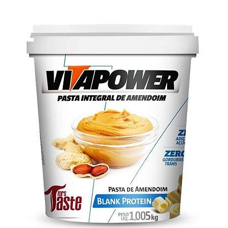 Pasta de amendoim chocolate branco protein Vitapower 1kg