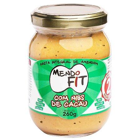 Pasta de amendoim com nibs de cacau Mendo Fit 260g