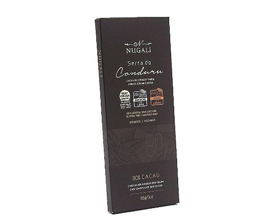 Chocolate serra do conduru 80% cacau Nugali 85g