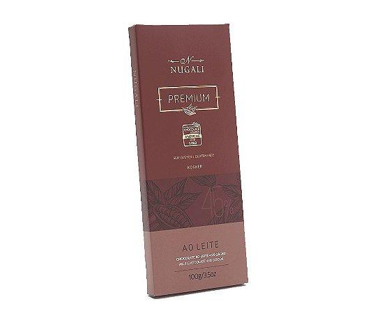 Tablete de chocolate ao leite 45% Nugali 100g