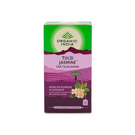 Chá tulsi jasmine Organic India 25 saches