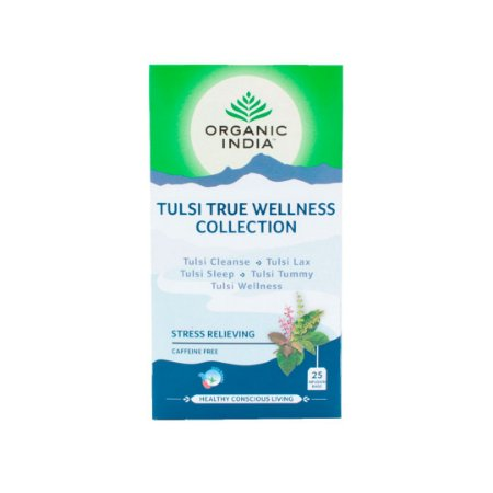 Cha tulsi true welness collection stress relieving Organic India 25 saches