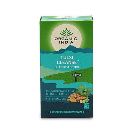 Cha tulsi turmeric cleanse Organic India 25 saches