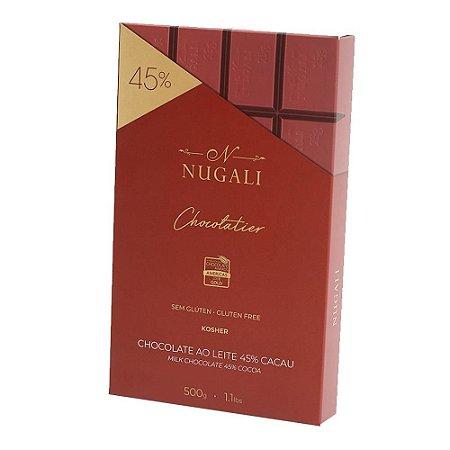 Barra de chocolate ao leite Nugali 500g