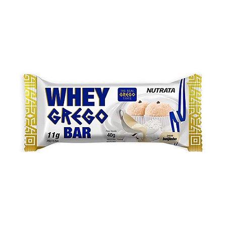 Whey grego bar sabor beijinho Nutrata 40g