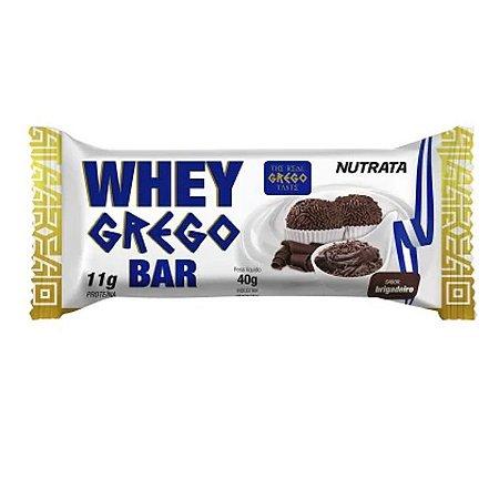 Whey grego bar sabor brigadeiro Nutrata 40g
