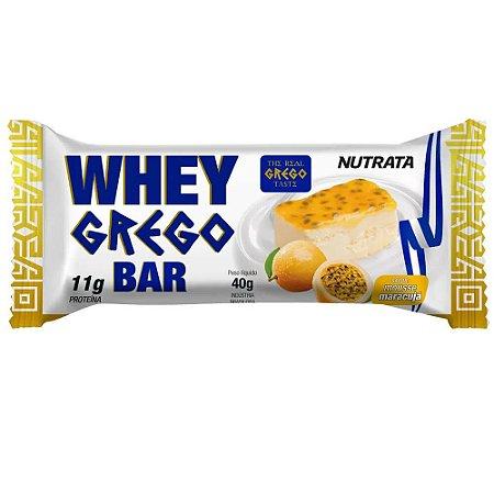 Whey grego bar sabor mousse de maracujá Nutrata 40g