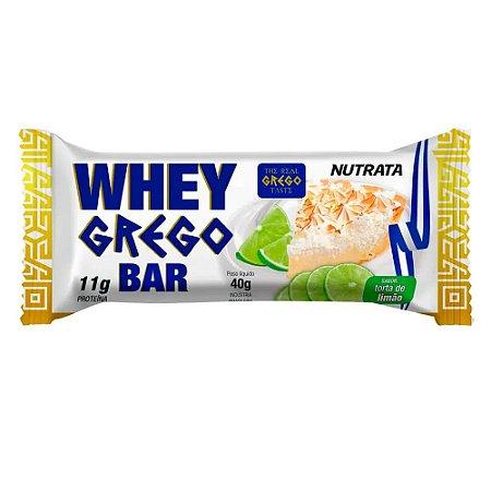 Whey grego bar sabor torta de limão Nutrata 40g
