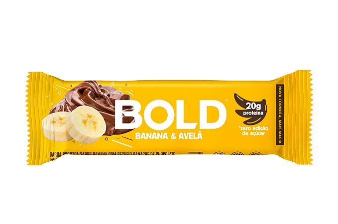 Barra de proteína sabor banana e avelãs Bold Bar 60g