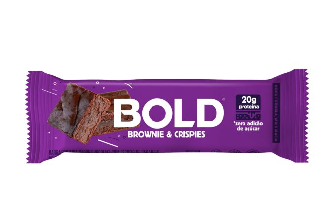 Barra de proteina sabor brownie e crispies Bold 60g