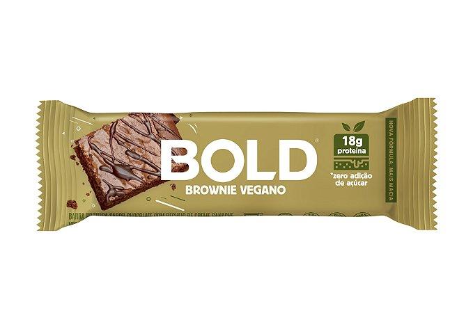 Barra de proteína sabor brownie vegano Bold 60g