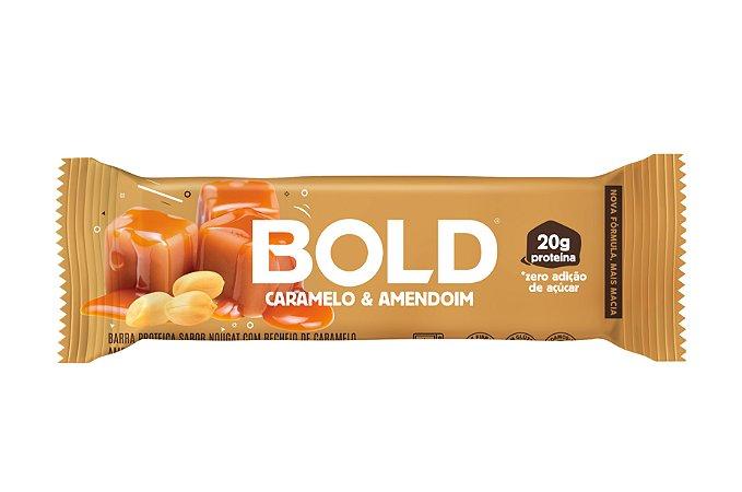 Barra de proteína sabor caramelo e amendoim Bold 60g