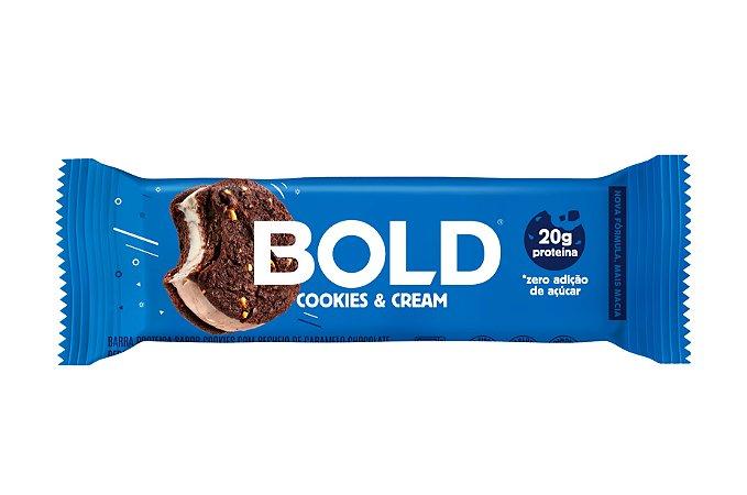 Barra de proteína sabor cookies e cream Bold Bar 60g