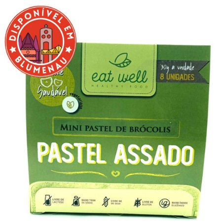 Mini pastel assado de brócolis Eat Well 8 unidades