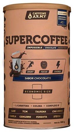 Supercoffee economic size sabor chocolate Caffeine Army 380g