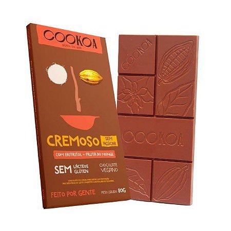 Chocolate cremoso sem açúcar Cookoa 80g