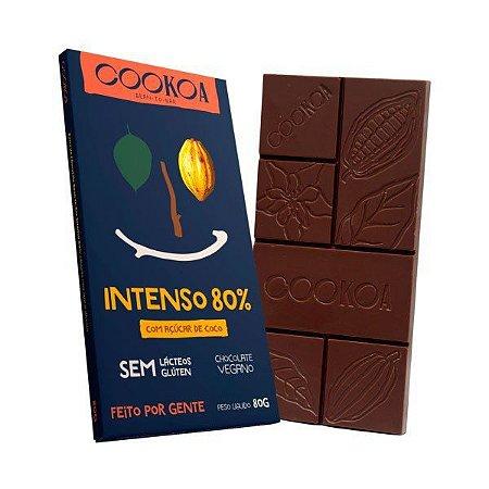 Chocolate intenso 80% Cookoa 80g