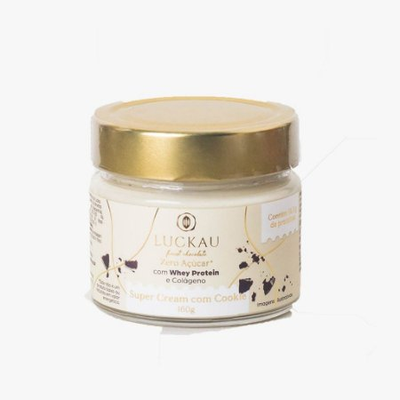 Creme super cream com cookie Luckau 160g