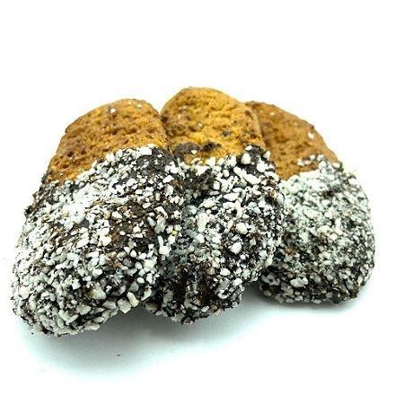 Cookies low carb coberto com chocolate 70% (Granel - preço/100g)
