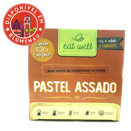 Mini pastel assado de strogonoff de carne Eat Well 8 unidades