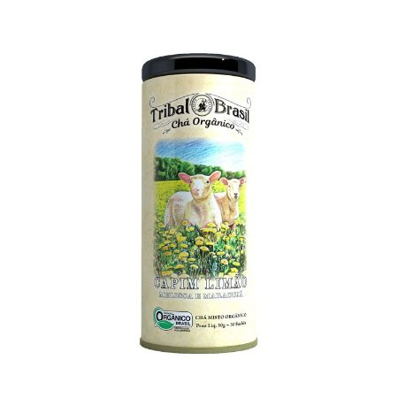 Chá misto orgânico de capim limão, melissa e maracujá Tribal Brasil 30g