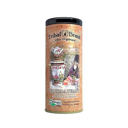 Chá misto orgânico de vanilla peach Tribal Brasil 54g