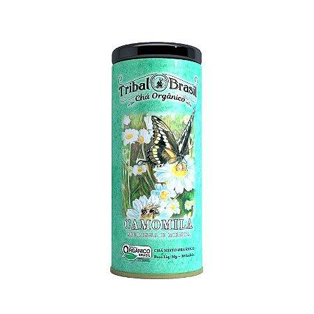 Chá misto orgânico de camomila, melissa e menta Tribal Brasil 30g
