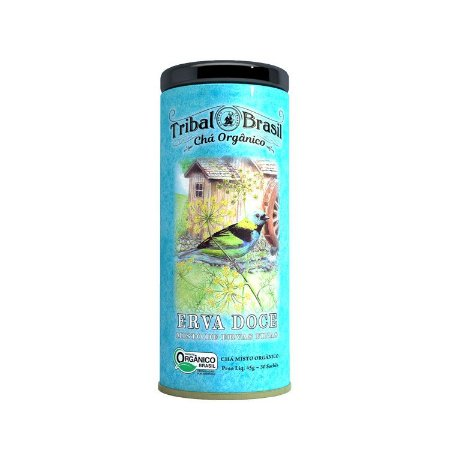 Chá orgânico erva doce Tribal Brasil 45g