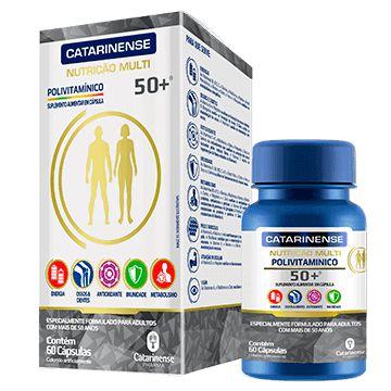 Polivitamínico multi 50+ Catarinense 60 cápsulas