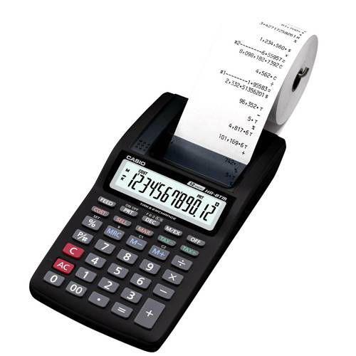Calculadora C/ Bobina 12 Dígitos Hr-8 Rc Bk + Fonte de Alimentação