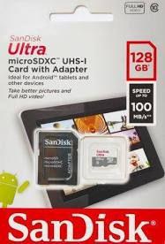 Cartão de Memória Micro Sd Ultra 128gb Classe10 100mbs Sandisk