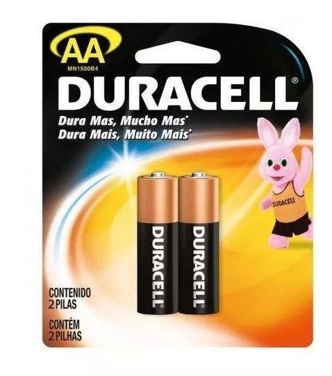 2 Pilhas Duracell Alcalina AA