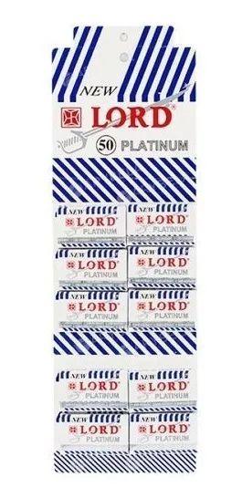 Lâminas Para Barbear New Lord Platinum C/50 Unidades