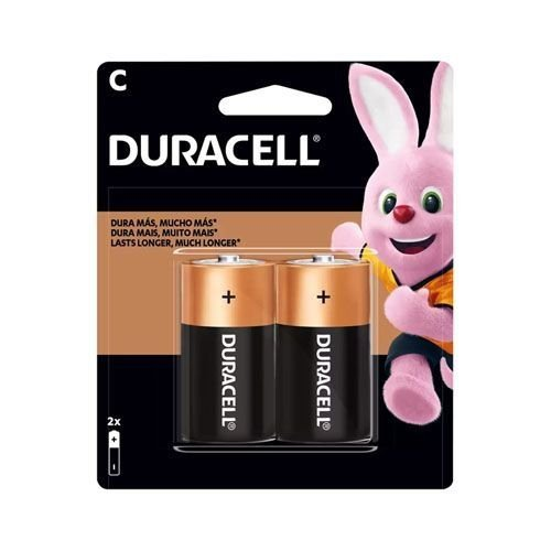 2 Pilhas Duracell Média C Alcalina 1.5v