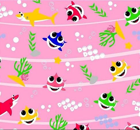 Tnt Estampado - Baby Shark rosa - 1 metro