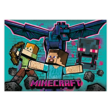 Painel de Parede Gigante Minecraft