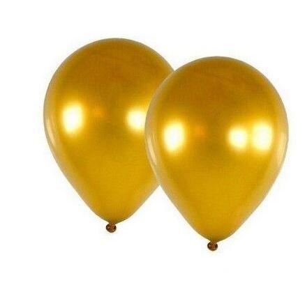 Balão Cromado Ouro N° 9