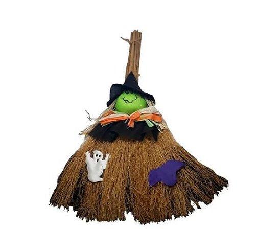 Mini Vassoura Bruxinha Halloween