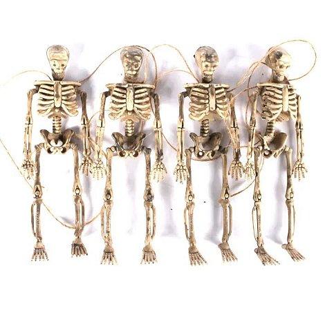Varal Esqueleto Halloween - 4 Unidades
