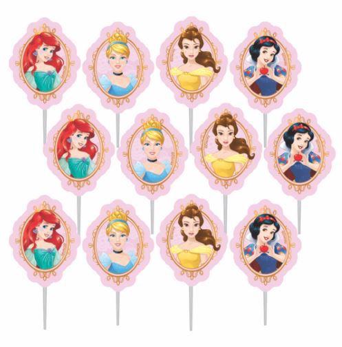 Palitos Decorativos Impressos para Docinhos Festa Princesas em EVA Piffer