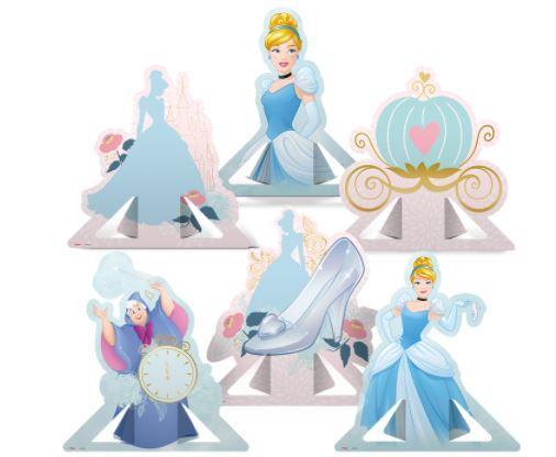 Decoração de mesa - Cinderela - 6un.