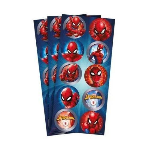 Adesivo Redondo Homem Aranha C/30 Unid. Regina