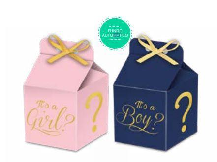 Caixa Decorativa Formato Milk - Boy or Girl - Chá Revelação