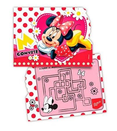 Convite - Minnie vermelho