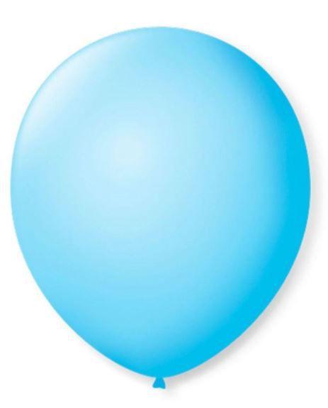 Balão Látex - 8 Polegadas - Azul claro - 50 unidades
