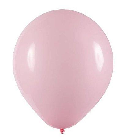 Balão Látex - 8 Polegadas - Rosa baby - 50 unidades