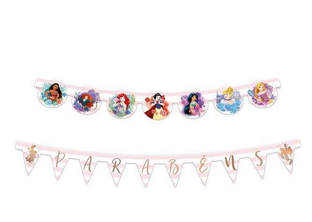 Faixa Parabéns - Festa Princesas da Disney - 01unidade