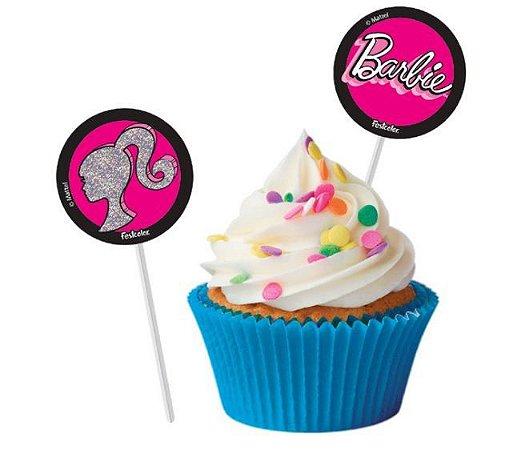 Bandeirinha Para Docinhos Festa Barbie - 8 Unidades