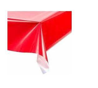 Toalha de Mesa Plástica - Vermelho