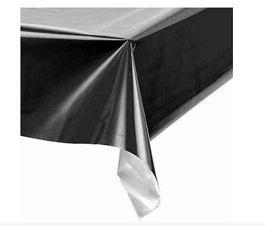 Toalha de Mesa Plástica - Preto
